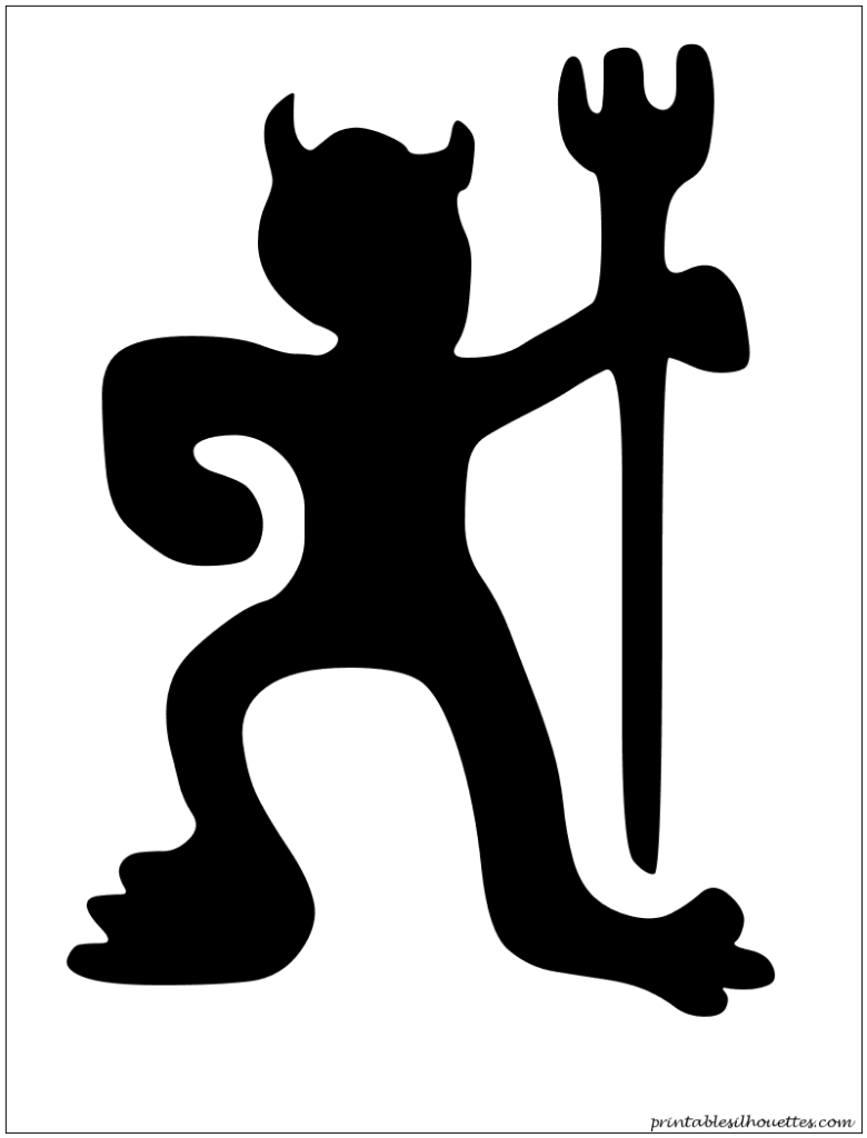 monster devil silhouette