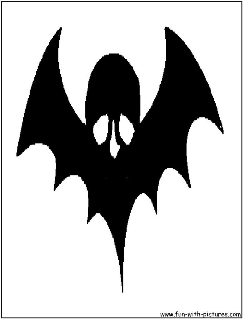 skull and wings silhouette