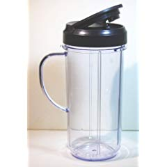 Magic Bullet On The Go Mug with Flip Top Travel Lid, 16 oz