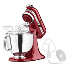KitchenAid KSM150PSER Artisan Tilt-Head Stand Mixer with Pouring Shield, 5-Quart
