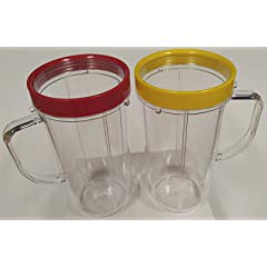 22oz Magic Bullet On The Go Cups with Mugs & Lip Ring