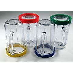 Set of 4 Party Cups Mugs Compatible with Original Magic Bullet Juicer, 16 oz each