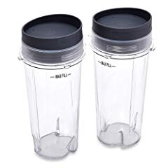 Ninja Single Serve Cup Set, 16-Ounce for BL770 BL780 BL660 All Pro 4 Tab Blenders