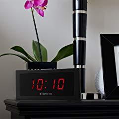 Electrohome 1.8 inch Jumbo LED Alarm Clock Radio