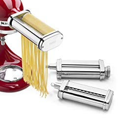 KitchenAid KSMPRA 3 Piece Pasta Roller & Cutter Attachment Set