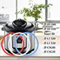 House Again 3 Pack Silicone Sealing Ring for 5/6 qt Instant Pot