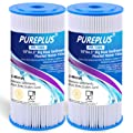 "PUREPLUS 5 Micron 10"" x 4.5"" Whole House Big Blue Pleated Sediment Water Filter Replacement Cartridge Compatible with GE FXHSC"