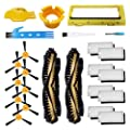 Theresa Hay Main Brush Filters Accessories Kit for Ecovacs Deebot N79S N79 Robotic Vacuum Cleaner, Side Brushes,Main Roller Brush Cover
